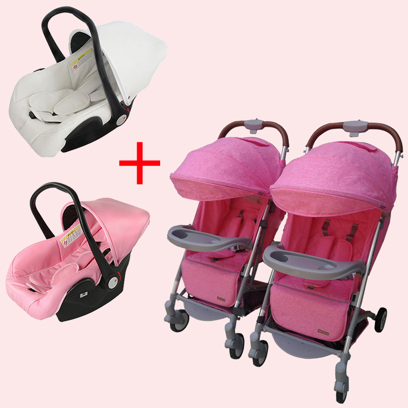 0-4 years baby twins baby stroller newborn baby stroller 3 in 1 baby carriage boarding 18 free gifts installcar seat 2018 poussette baby free ship eu big brand twins baby stroller folding light double pram two seat 0 4 years use free gifts