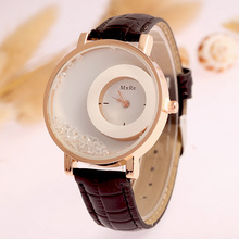 MEIBO Fashion Leather Strap Women Rhinestone Wrist Watch Casual Women Dress Watches Watched Hot Relogio Feminino