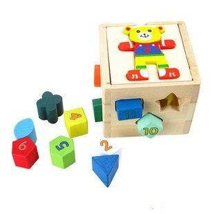 Игрушек! Обучающая деревянная игрушка в виде медведя, коробка с мудростью, геометрические формы, подходящая игра для ребенка, раннее обучение, подарок на день рождения, 1 шт