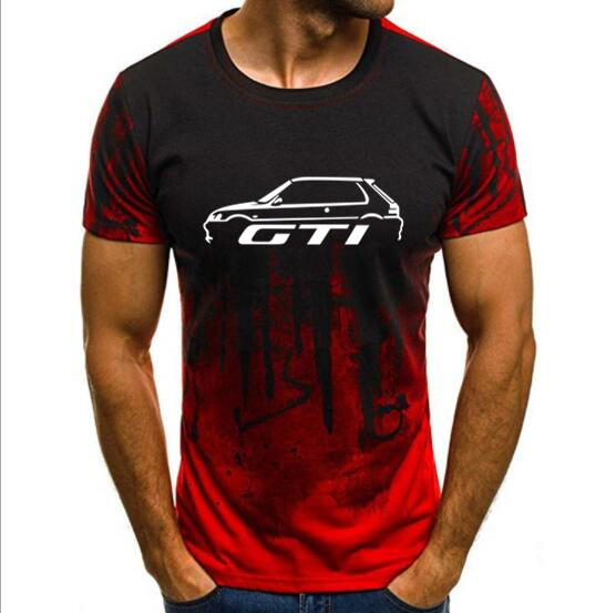 Free Shipping PEUGEOT 106 205 GTI INSPIRED CLASSIC CAR T-SHIRT S-4Xl T Shirt Tops Splash-ink Printed Male Casual
