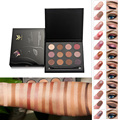 12 Colors Eyes Makeup eye shadow powder pallete Matte Highlight Eyeshadow + 1 piece Double Ended Brush