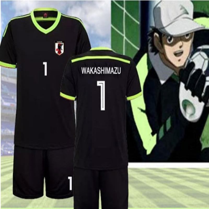 Free shipping Japanes Anime Captain Tsubasa Soccer Football Jersey Toho Academy Goalkeeper Ken Wakashimazu Sets Cosplay Costume