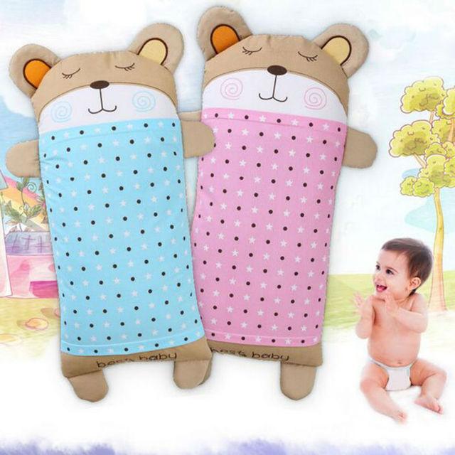 Venda quente Travesseiro Da Criança Infantil Bonito do Urso Do Bebê Do Algodão Bebê Recém-nascido Macio Pescoço Travesseiro Da Cama