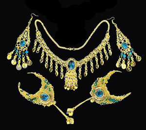 Image 3 - 2016 6 pcs/set Wholesale Indian belly dance wear belly dancing accessories necklace jewelry set for women