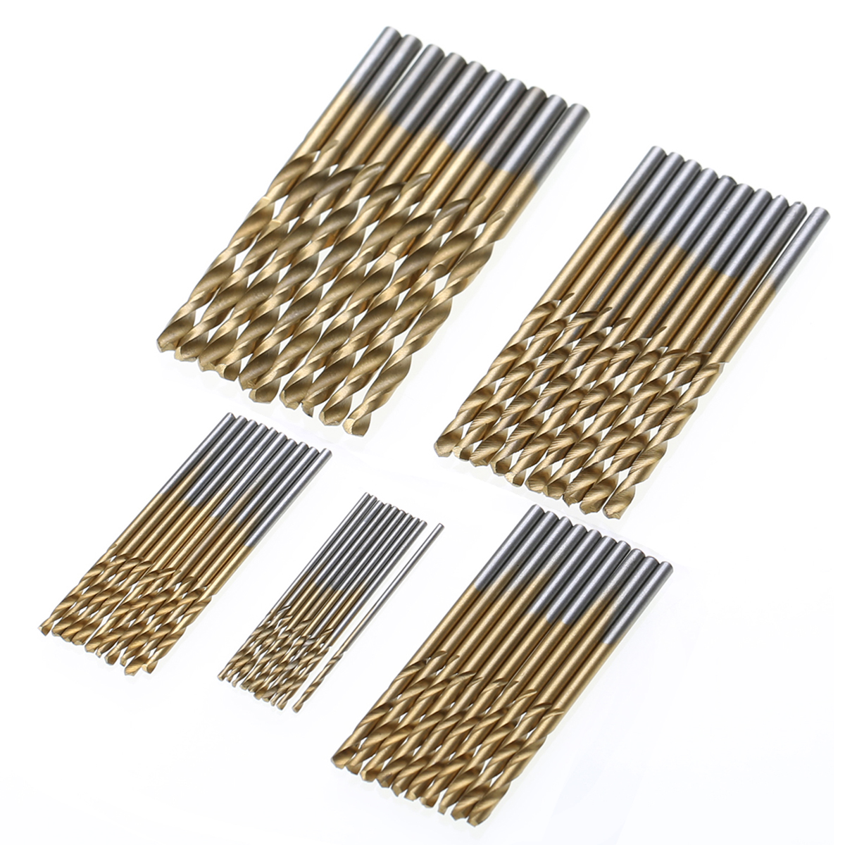 50pcs Titanium Coated Drill Bits Set Mayitr HSS Mini Extractor Drill Bit 1/1.5/2/2.5/3mm For Metal Wood Aluminum Drilling Tools new 10pcs jobbers mini micro hss twist drill bits 0 5 3mm for wood pcb presses drilling dremel rotary tools