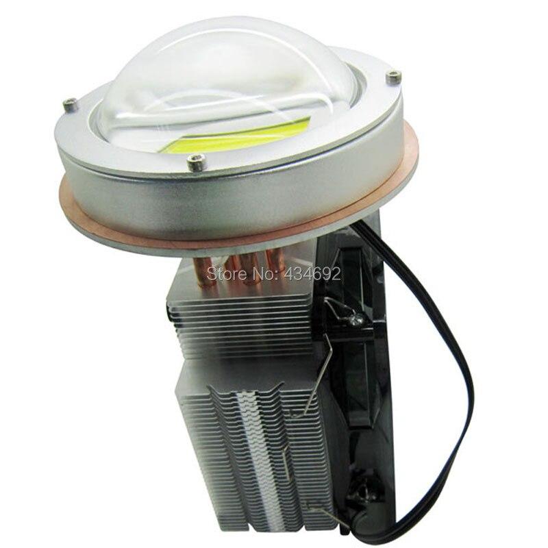 Free Shipping 200W Aluminum Led Heatsink DC12V Cooling Fan 100mm 200W Led Lens Kit For DIY
