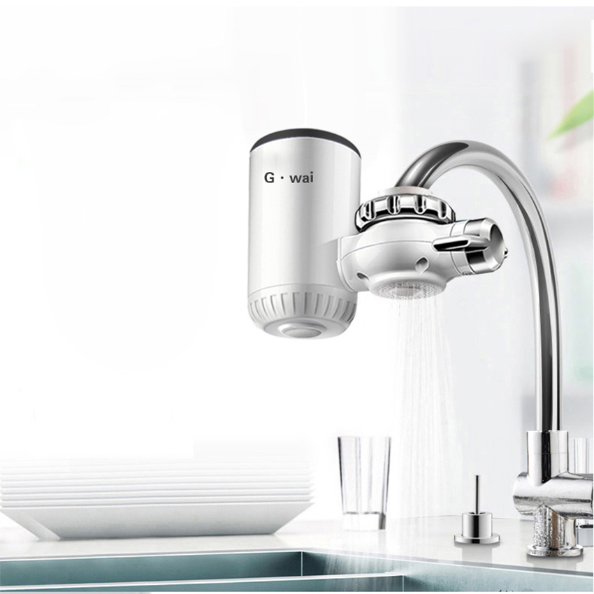 Kitchen Faucet Instant Water Heater Fast Electric Tap 360 Rotation Hot Mixer Calefactor Portable Mini Water Heating Tap 220v