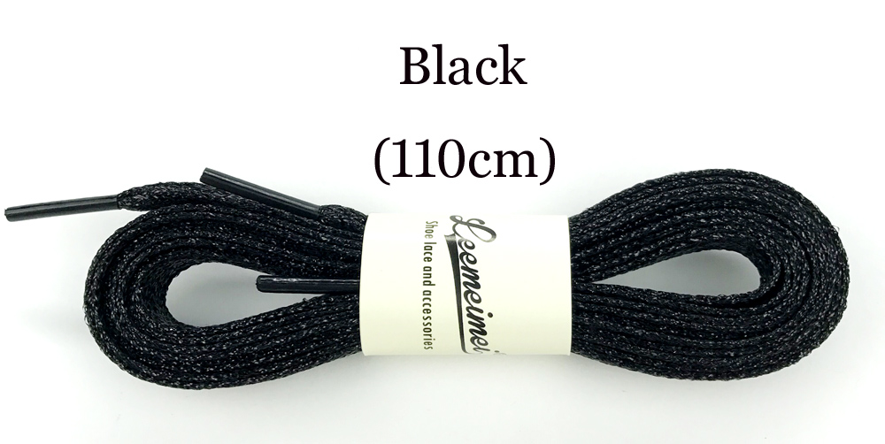 10paris Sport Golden Silver Black Metallic Gold Thread Shoelace Round Rope Laces For Outdoor Climbing Casual Trainer Laces 110cm Shoe Accessories