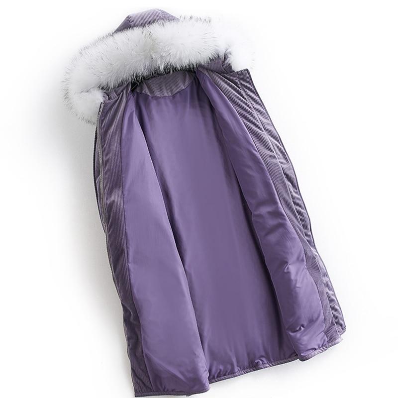 À Veste Femmes Long Grand Col Le Noble Capuchon Chaud Purple De Fourrure Raton Hiver Manteau Bas Vers Laveur Parka Pourpre 2019 Naturel dBrxoWCe