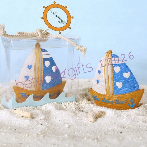 Free Shipping 200box Love Cruise Ship Candle Favor Baby Party