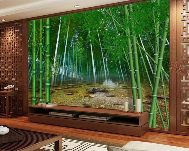 Beibehang Large Custom Wallpaper Natural Bamboo Forest HD Photo 3D Wallpaper  Living Room Bedroom TV Wallpaper