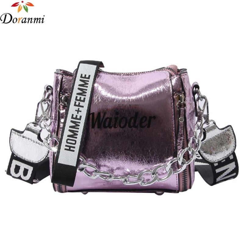 78176fec1e DORANMI Holographic Buck e Flap Bags For Women 2018 Hot Fashion Letter  Printed Bolsa Handbags