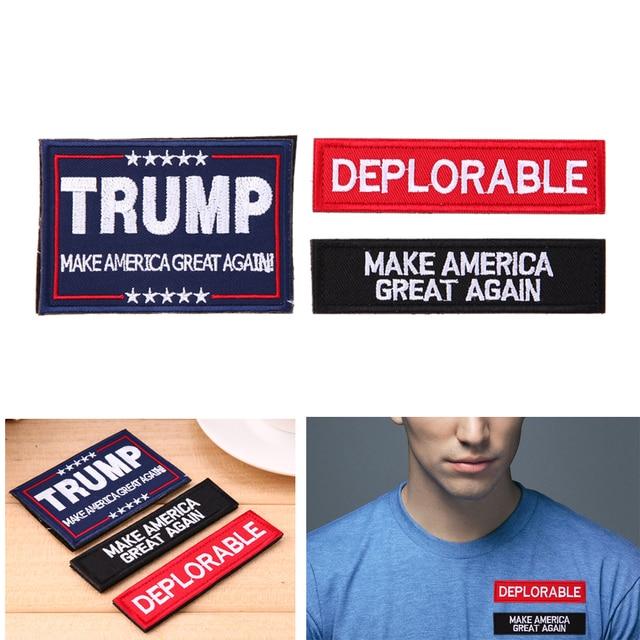 Verschiedene Arten Stickerei Patch Trump Muster Armband Tuch ...