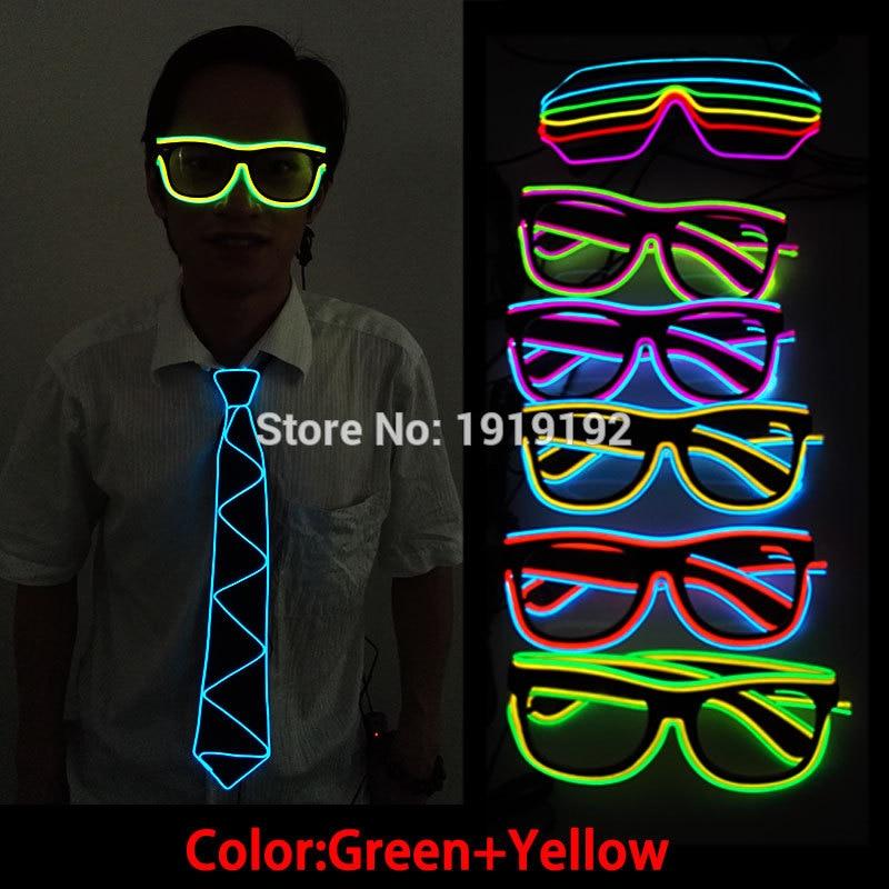 Terkini Jenis Dua WARNA EL Wire berwarna-warni Neon LED Light Up Cuti - Pencahayaan perayaan - Foto 2