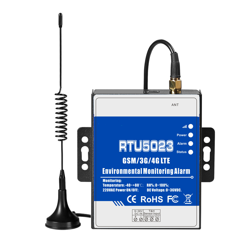 RTU5023 GSM 3G 4G LTE Temperature Humidity Environment Alarm Power Situation SMS Alert Remote Monitoring DC