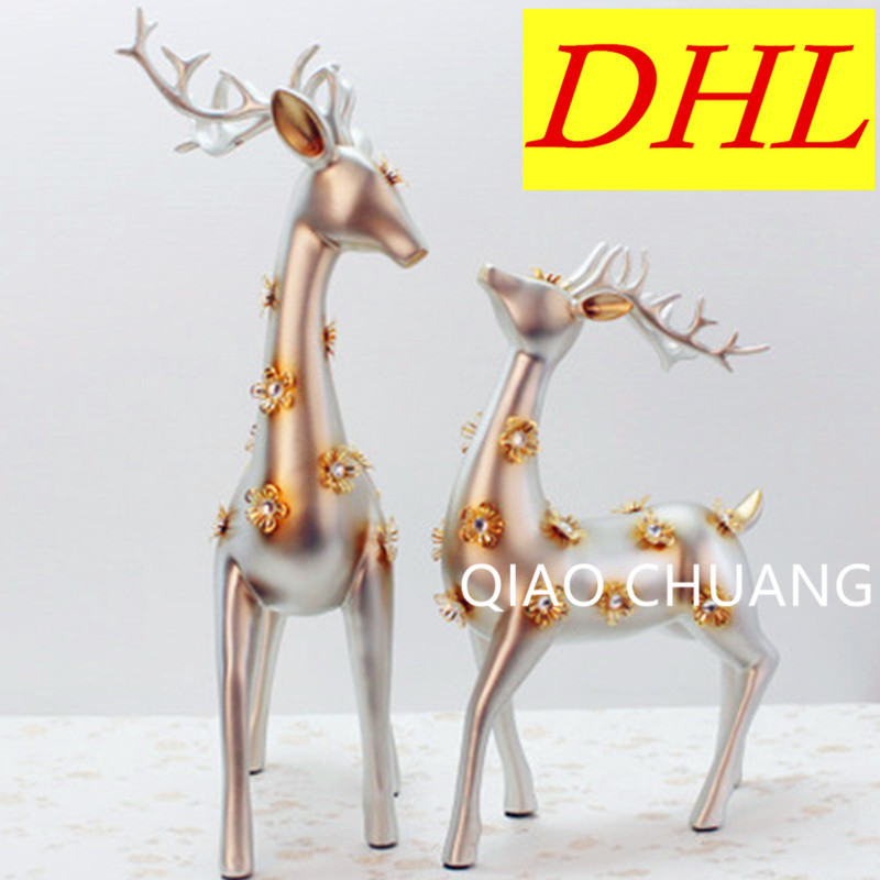 Sika Deer Furniture Figurines Deer Miniature New Year Home Decoration Miniatures Creativity Handwork Christmas Gift Resin S361 free shipping christmas deer table european diy arts crafts home decorative elk wood craft gift desk self build puzzle furniture