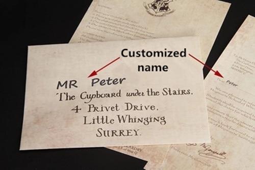 Harry Hogwarts Acceptance Letter Package five pieces suit of - hogwarts acceptance letter