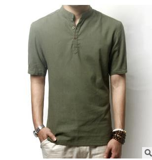 Mens Collarless Shirt - T Shirt Design Collections
