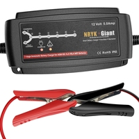 NRYK Giant 7 stage 12V 5A Smart Car Battery Charger Desulfator Maintainer for Vehicle Solar System Lead Acid Batteries 6 120AH