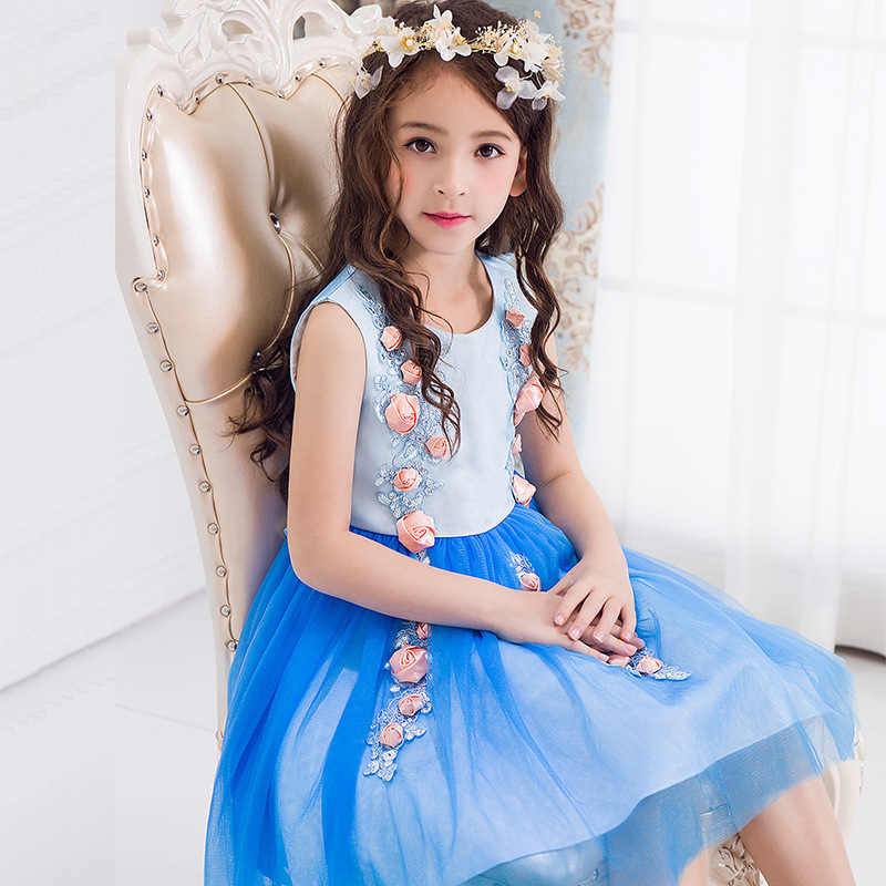 Children's Garment Fairy Maiden Princess Thick Disorderly Sleeveless Child Dress Color Piano Show Serve светильники trousselier абажур princess fairy 34х22 см