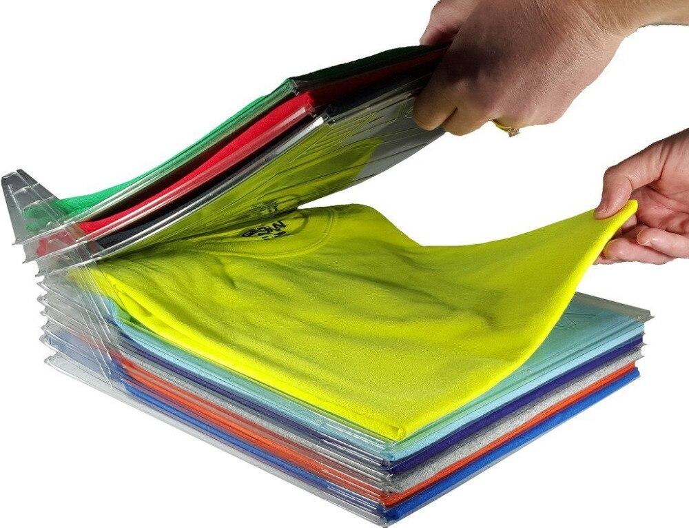 10 pièces vêtements soignés pliant conseil organisateur T-shirt pli organisateur ménage placard organisateur armoire organisateur essentiels