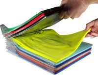 10 pçs roupas puras placa de dobramento organizando camiseta fold organizer armário organizador do agregado familiar essentials