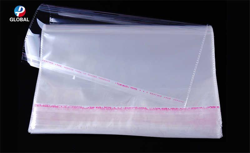 D & P 500pcs סוגים שונים של גדלים עצמי דבק חותם פלסטיק מתנת פאוץ שקוף OPP פולי תיק ברור קמעונאות אריזת שקיות
