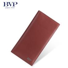 Бвп высокий уровень тонкий тонкий костюм бумажник воловьей кожи бизнес дизайнер красный мужчины кошельки мода клатч Q509