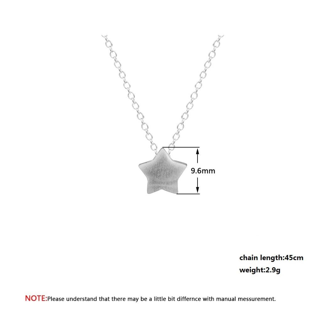 QIAMNI Lovely Star Pendant Chain Choker Necklace for Women Girls Christmas Gift Charm Minimalist Jewelry