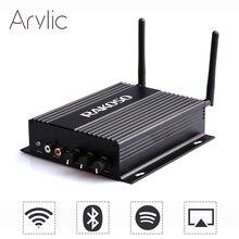 جهاز مكبر صوت صغير للمنزل من RAKOSO SA100 مزود بخاصية WiFi وبلوتوث HiFi ومضخم صوت متعدد الغرف مزود بمضخم صوت سبوتيفي ايربلاي تطبيق مجاني