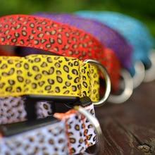 Fashion LED Leopard Print Dog Collars