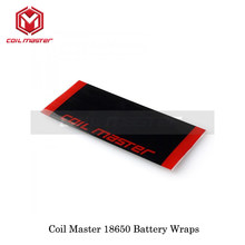 (10pcs/lot) Coil Master 18650 Battery Protective Covers CoilMaster Wraps Li-ion 18650 Wrap PVC Size 71mm*29mm Battery Film Tape(China)