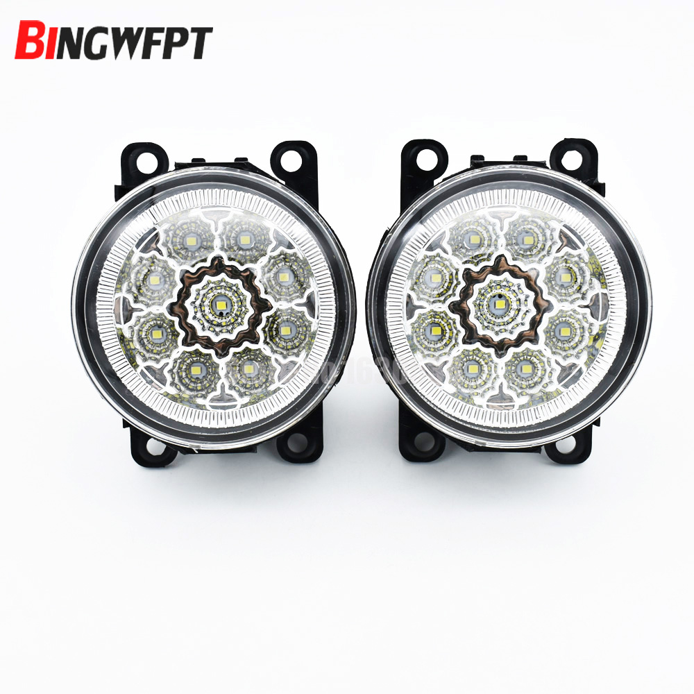 2PCS For Opel Vectra C 2002-2008 H11 Car Halogen Bulb Fog Light DRL Daytime Running LED Lamp 12V Light Accessories for opel astra h gtc 2005 15 h11 wiring harness sockets wire connector switch 2 fog lights drl front bumper 5d lens led lamp