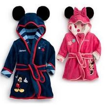 Children's Robes girls Cartoon Bathrobes Baby Clothing Character Cotton Nightgown Boys Homewear Autumn Sleepwear Kids pajamas