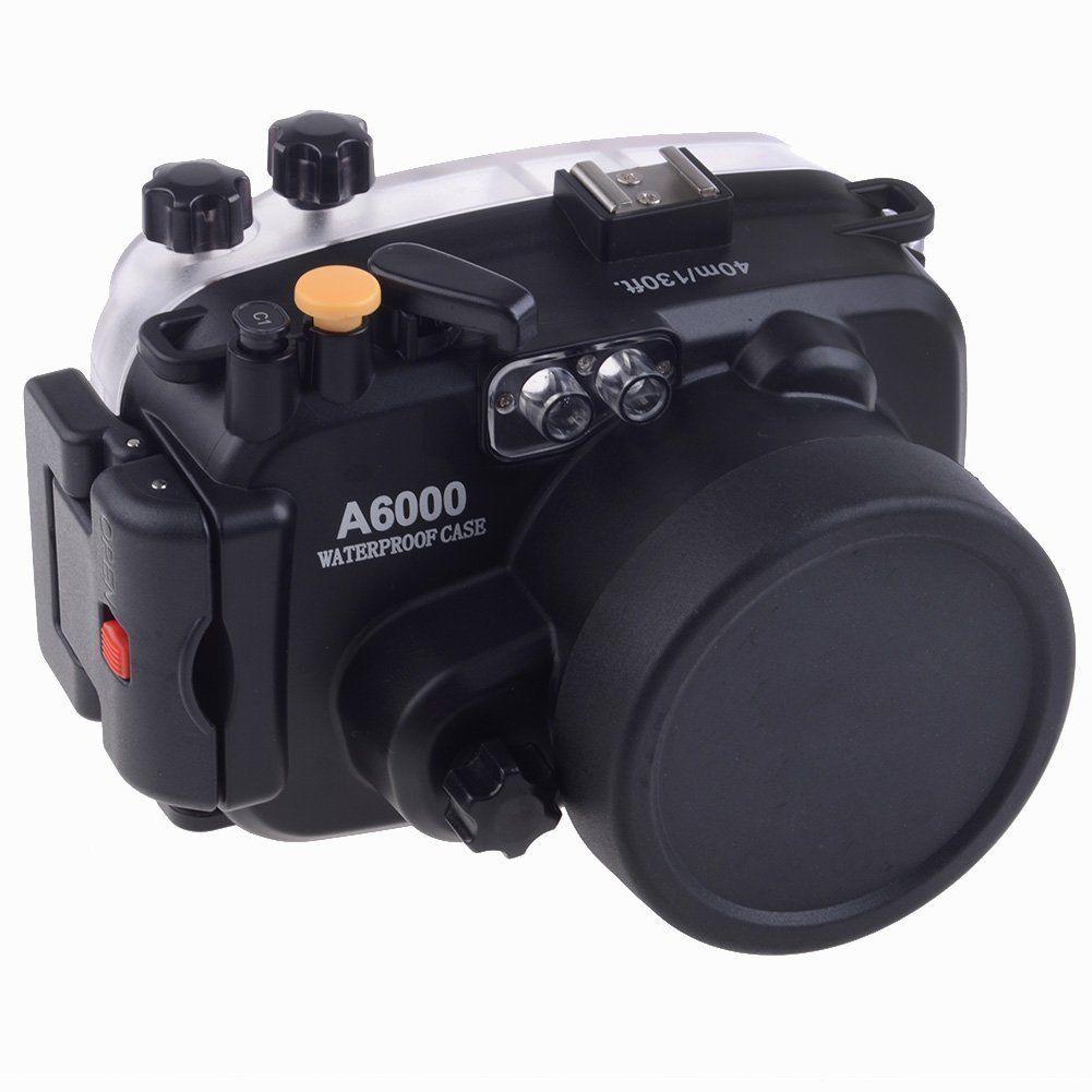 Meikon 40M Waterproof Underwater Camera Housing Case Bag for Sony A6000 Camera nereus 10 meter waterproof housing kit for digital camera dc wp20