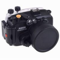 Meikon 40M Waterproof Underwater Camera Housing Case Bag for Sony A6000 Camera