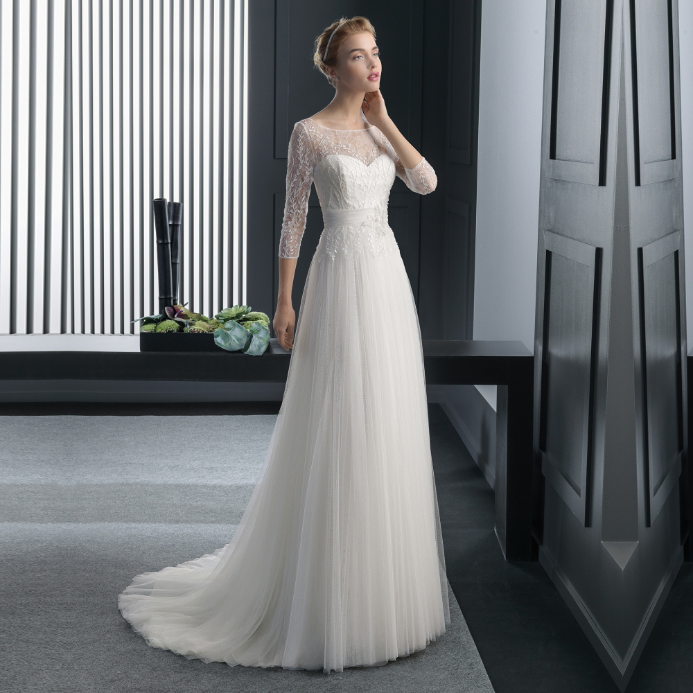 Popular Simple Beautiful Wedding Gown-Buy Cheap Simple Beautiful ...