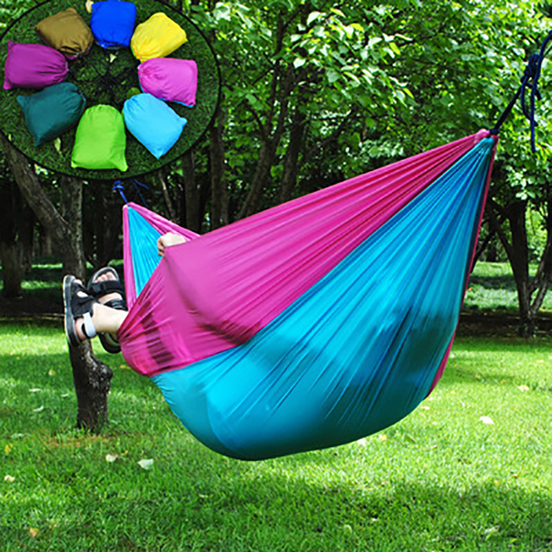 260 * 140 CM Outdoor Parachute Double Hammock Field Camping Hamak Outdoor tourism Camping equipment Quality Hangmat Hammock 2 people portable parachute hammock outdoor survival camping hammocks garden leisure travel double hanging swing 2 6m 1 4m 3m 2m