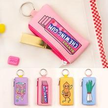 Cute Cartoon Coin Purse Storage Keychain Bag For Flash Card USB Phone Cable Data Travel Accessories Earphone Organizer Case