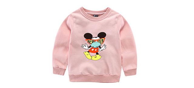 Niñas bebés Camiseta de la Historieta de Minnie Mickey Mouse Summer Casual de Manga Larga camisetas para Niños de los niños Camisetas para 3-9 T