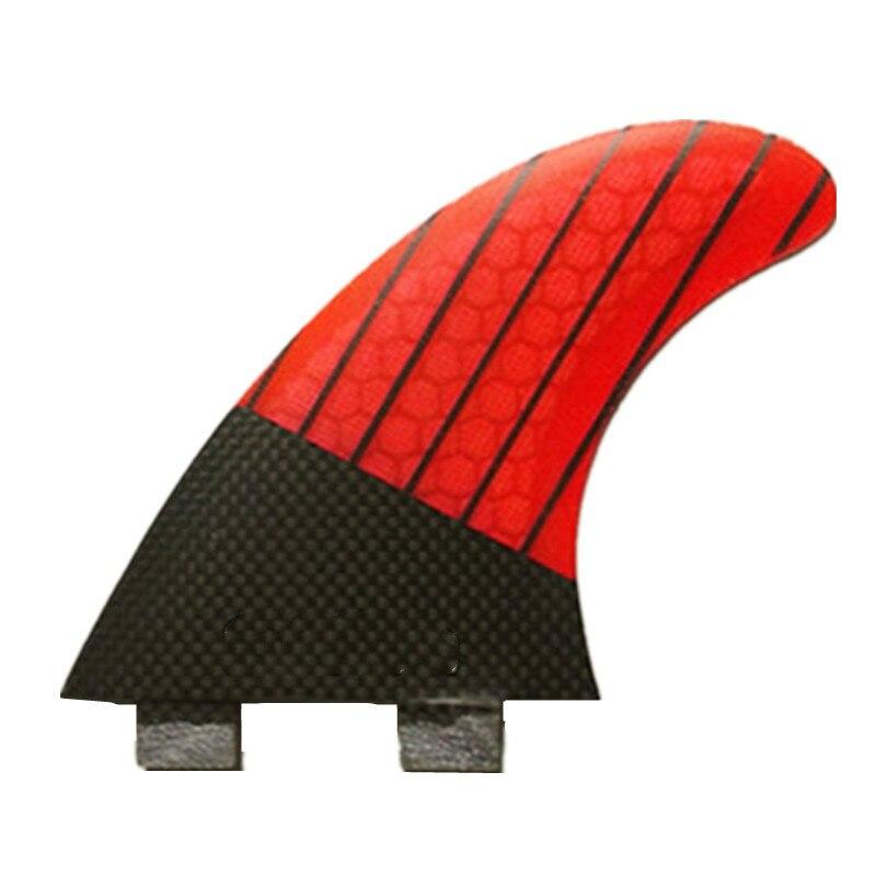 3 pcs Vente Chaude Fiber de Carbone Quilles de Surf Honeycomb Planche Planches de Surf Ailettes Propulseur Sup Surf Ailettes G5 g7