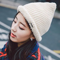 New Fashion Line Wool Curling Cap Unisex Winter Warm Knitting Strip Nail Metal Pointed Pointed Hat Hat Twist Sleeve Head Cap