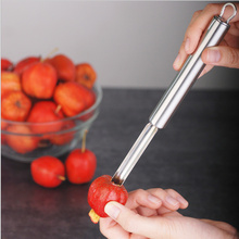 Newness Premium Jalapeno Chili Pepper Haw Apple Hawthorn Pear  Core Remover corer Cherry Pitterr with Sharp Serrated Blade
