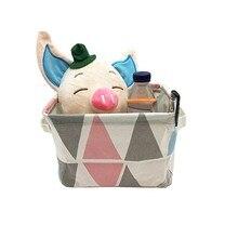 hot deal buy cotton storage baskets home laundry basket folding storage basket children toy container desktop cosmetics organizer