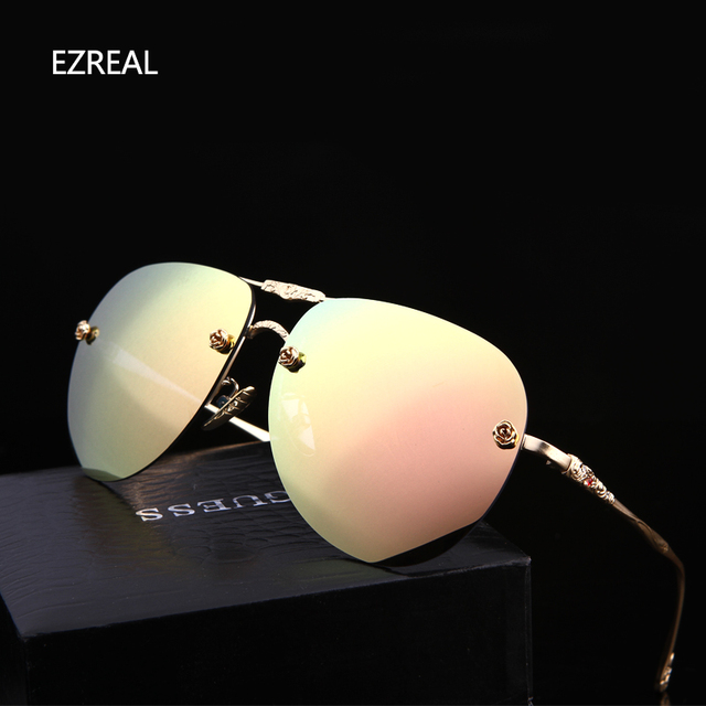 2017 New Brand Fashion Polarized sun glasses Frog Mirror sunglasses men sunglass women brand designer, EZREAL driving sunglasses