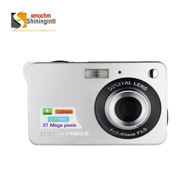 Smochm 21M Pixels Portable Colorful Compact HD 8x digital Zooming Photo Video Record IGBT Digital Camera with JPEG Avi SD card