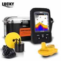 Lucky wireless fishfinder ff718lic 더 깊은 파인더 음파 탐지기 2-in-1 유선 및 무선 센서 휴대용 방수 어군 탐지기