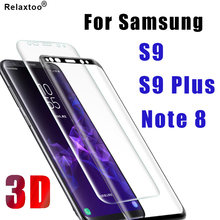 3D S 9 protective glass on the for samsung galaxy s9 plus note 8 s9plus note8 screen protector galax samsong 9s tempered glas(China)