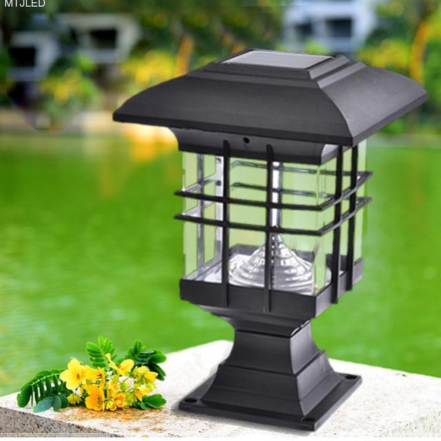 Kaigelin Solar Pillar Lamps Garden Landscape Lights Led Outdoor Waterproof Lighting Park Decorative Solor D