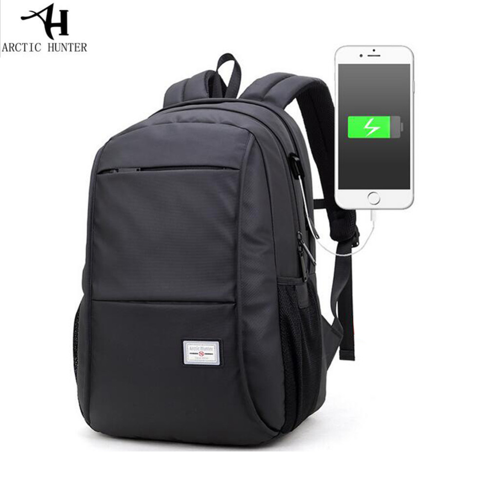 Black Laptop Backpack Waterproof Man Computer Rucksack Travel Bag School Bags 15.6 inch Women Bagpack with USB Port 13 laptop backpack bag school travel national style waterproof canvas computer backpacks bags unique 13 15 women retro bags